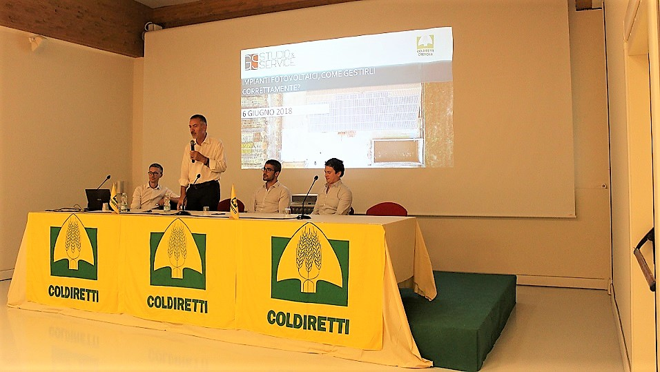 Convegno sul fotovoltaico organizzato da gs service e for Consorzio agrario cremona macchine agricole usate
